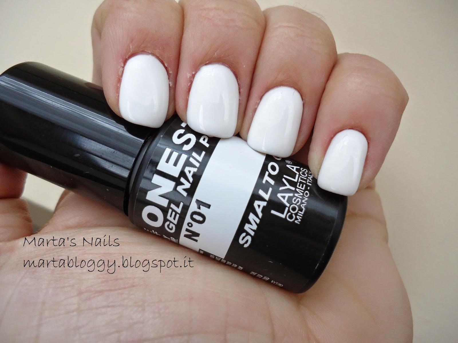 Favorito Marta's Nails: 78: Smalto Gel One Step Layla n°01 Bianco JY18