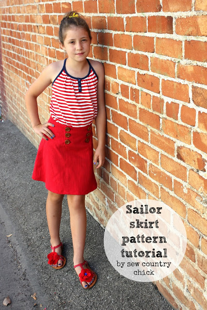 sailor skirt sewing tutorial