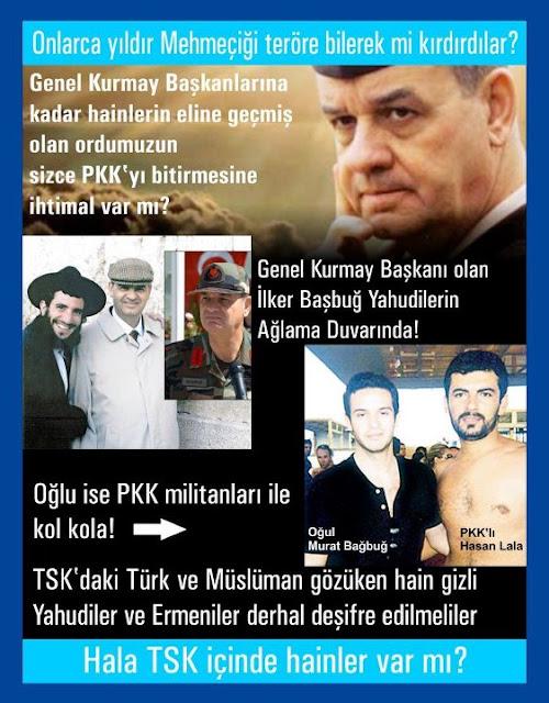 Gizli Yahudi Genel Kurmay Başkanı İlker Başbuğ Ağlama Duvarında, oğlu PKK ile kolkola