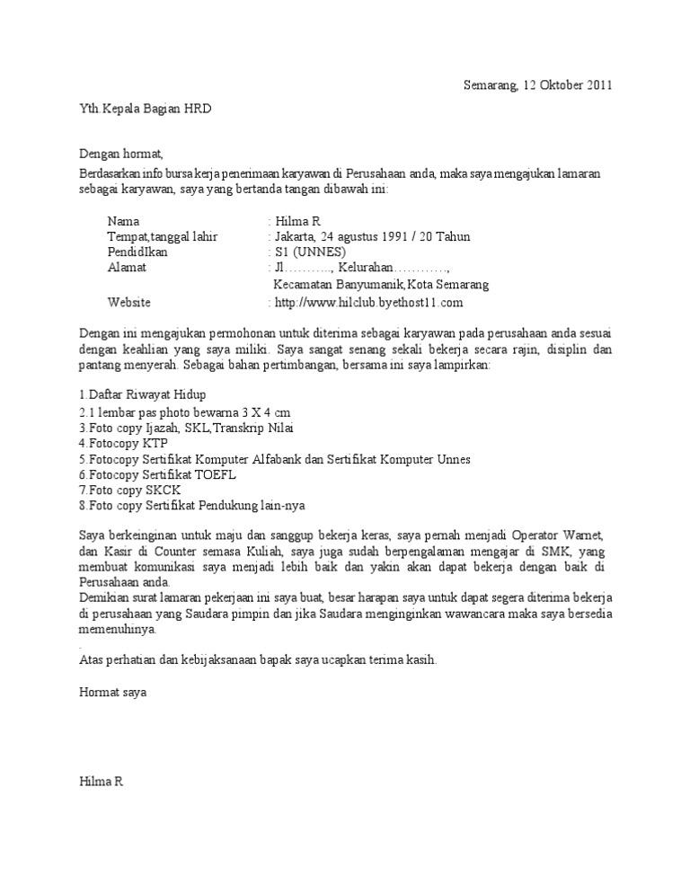 Contoh application letter job fair werentrump contoh application letter job fair spiritdancerdesigns Images