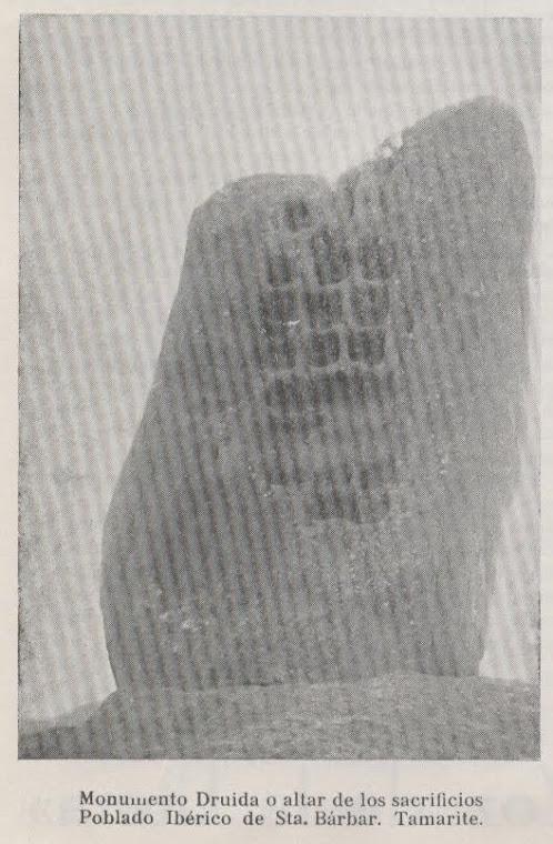 Detalle del altar druida