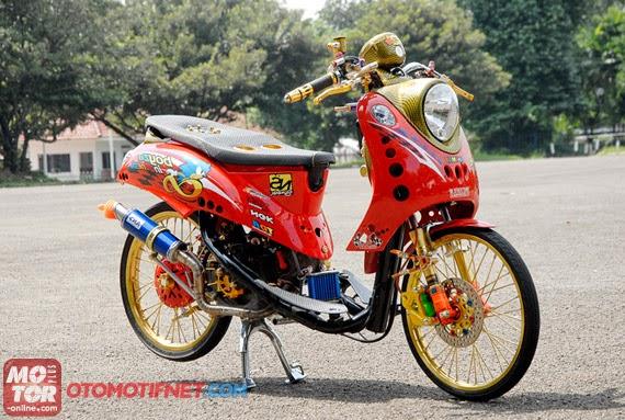 modifikasi motor mio fino velg 17  tahun ini