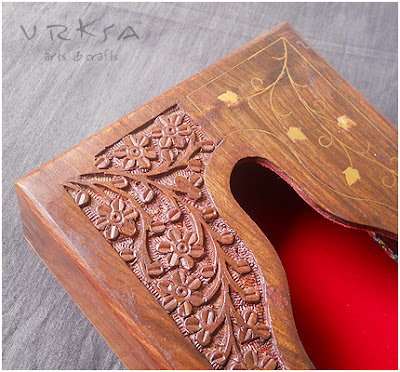 Vrksa Arts Amp Crafts Tissue Box Indian Wooden Craft