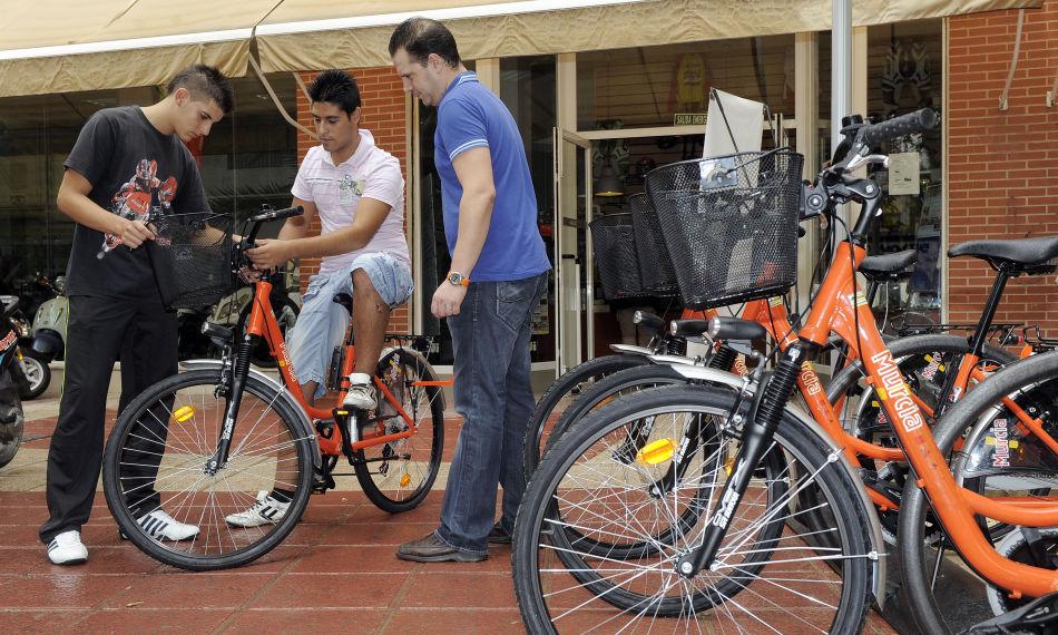 bicicleta de alquiler de murcia