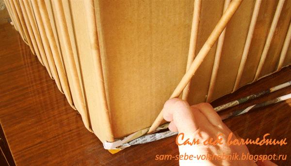 Плетеная корзина для хранения вещей. 45436