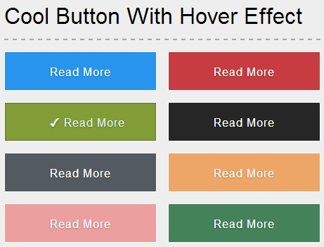 Pure css3 button effect with icon