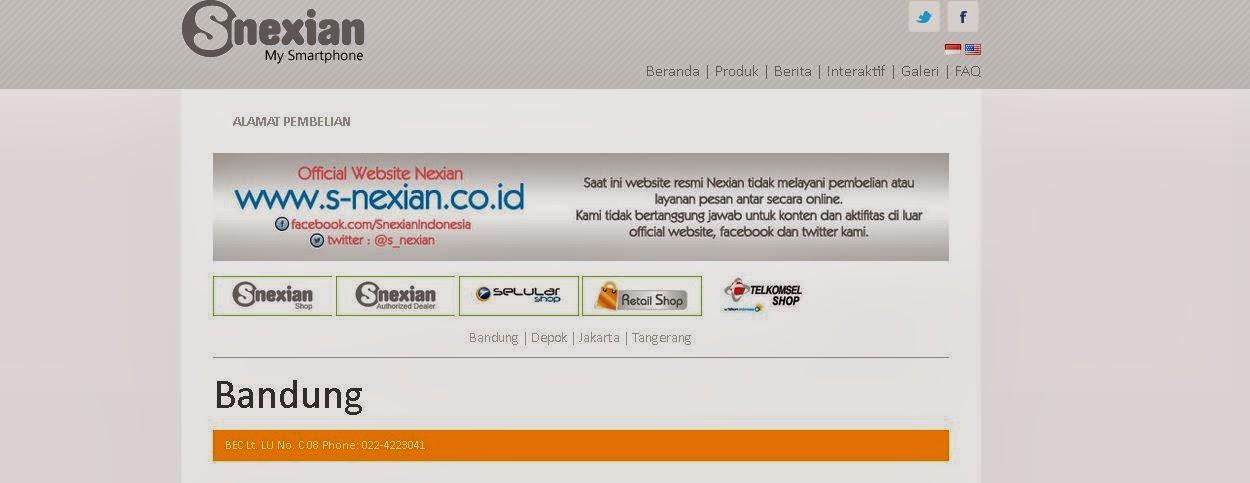 4 Alamat Pembelian Resmi S-Nexian di Indonesia ~ Seputar Dunia ...