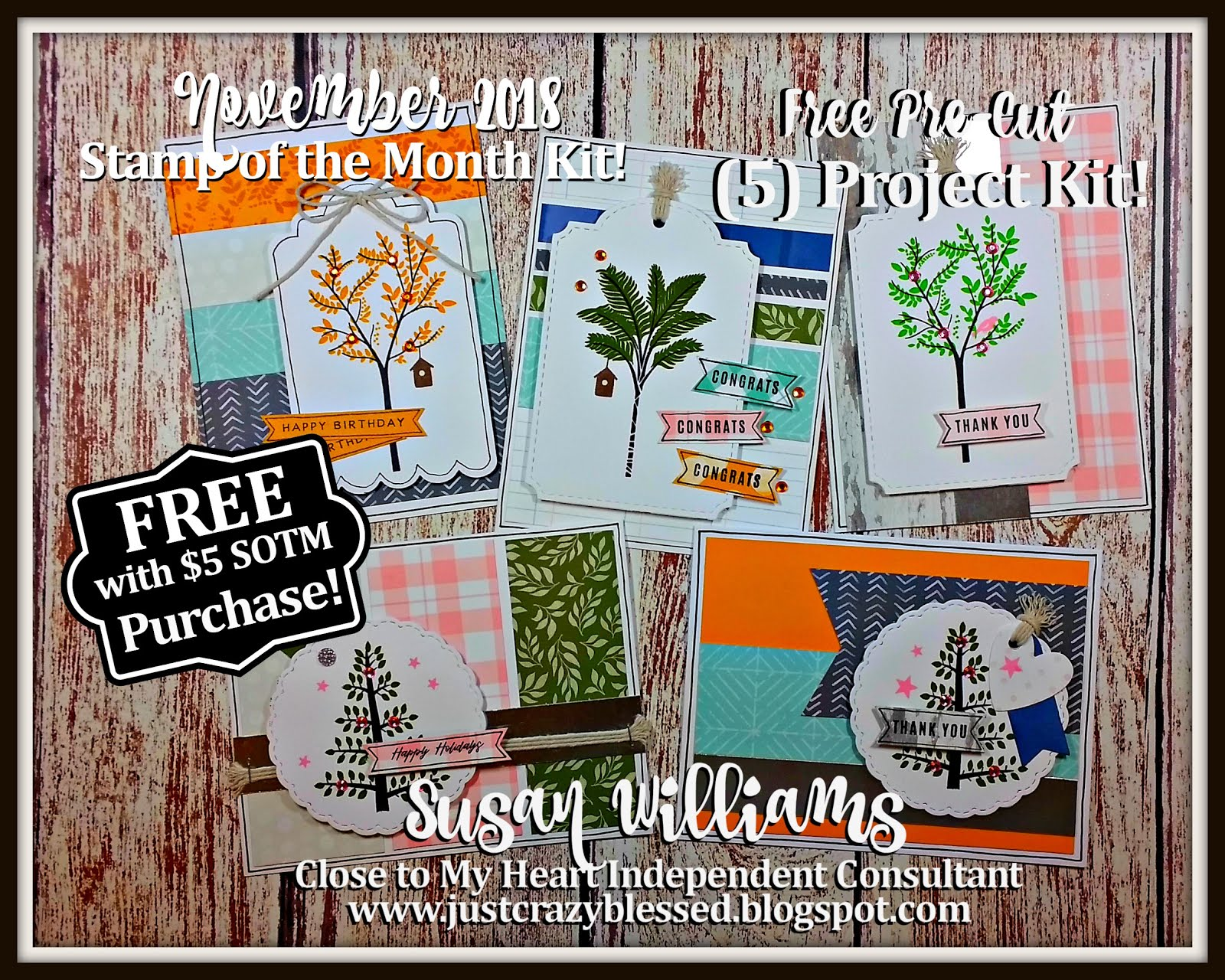 November 2018 Stamp of the Month Workshop!