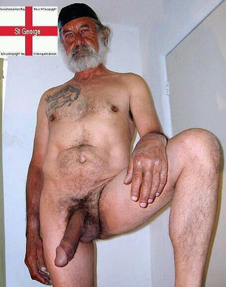 Hairy Old Gay Grandpa Cock