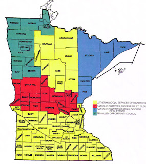 Minnesota County Map Area