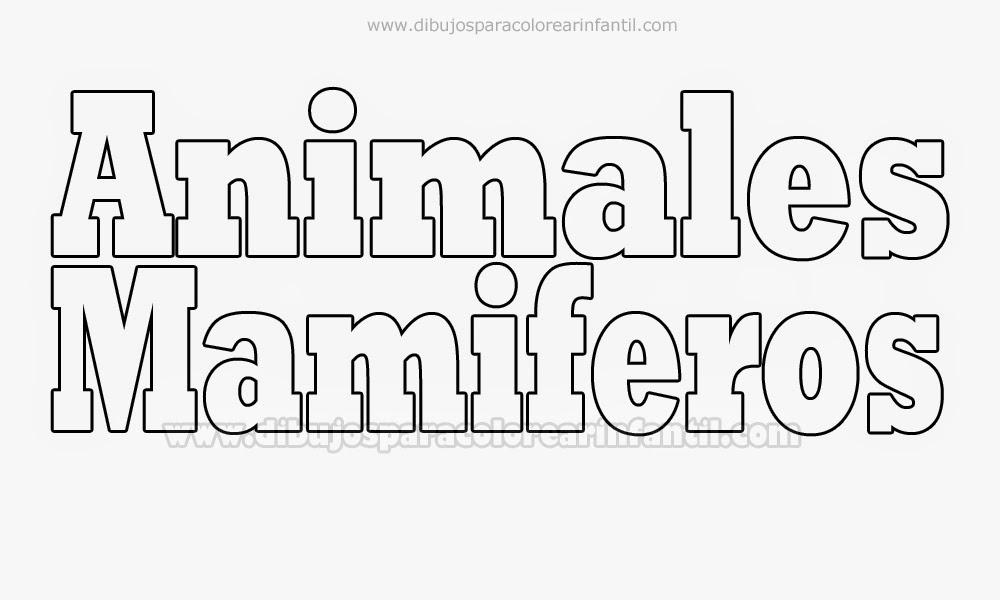 Fotos De Animales Mamiferos Para Colorear picture gallery