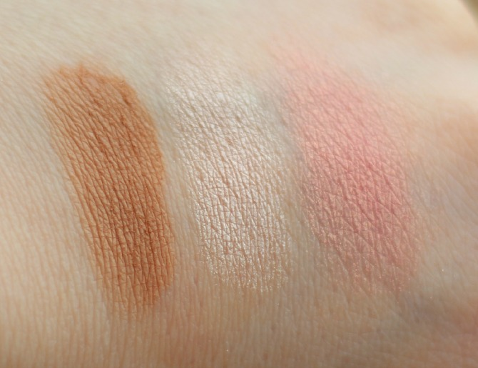 Makeup Revolution Euphoria palette contour swatches