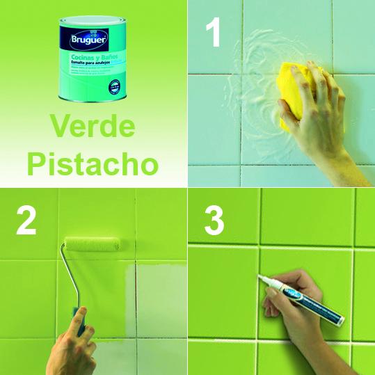 Mundocolor bruguer c mo renovar tu ba o o cocina f cilmente - Pintura para azulejos del bano ...