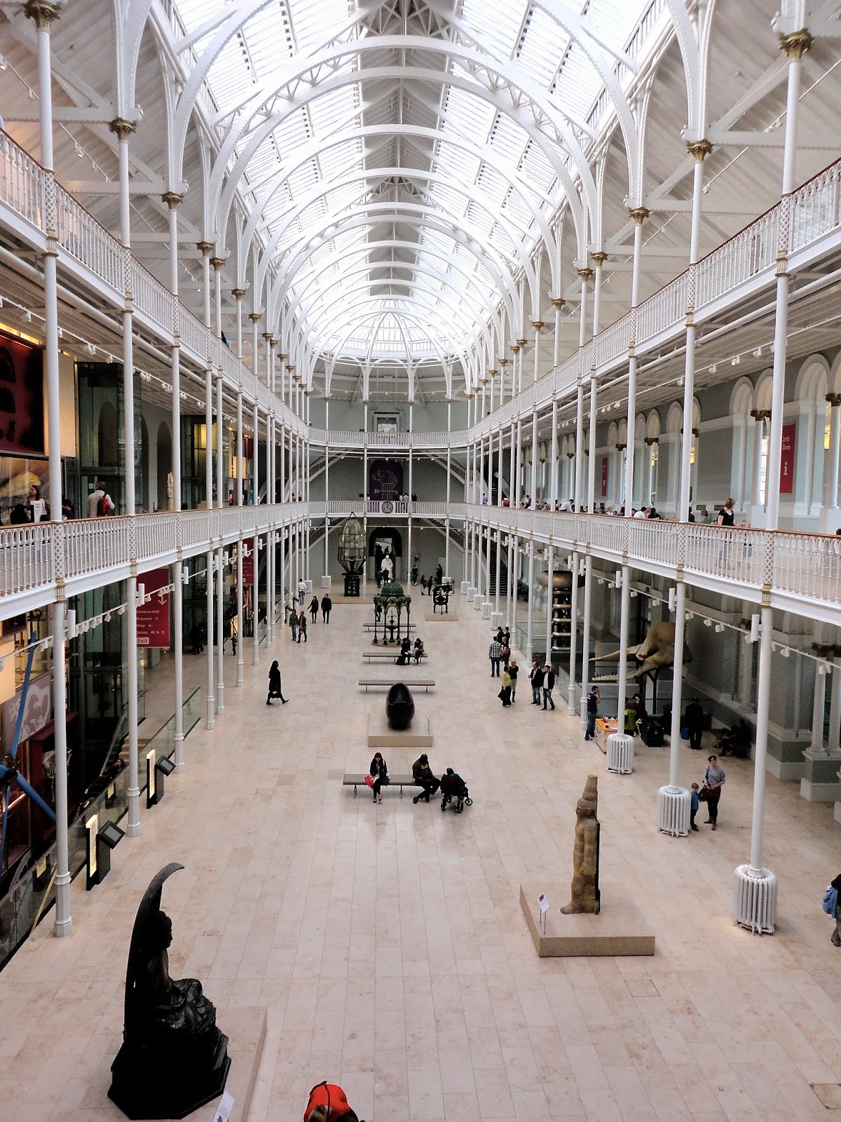 Main hall of National Museum of Scotland, Edinburgh
