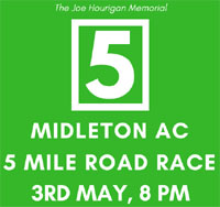 Big 5 mile race in Midleton...Thurs 3rd 2018
