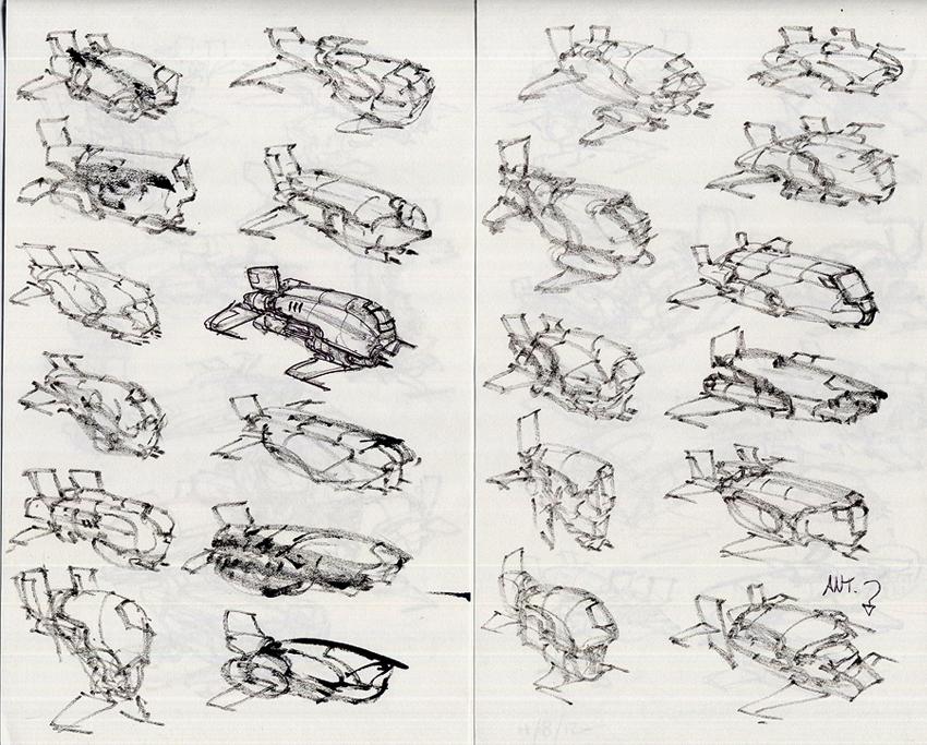 amazoncom blast spaceship sketches and renderings - 850×683