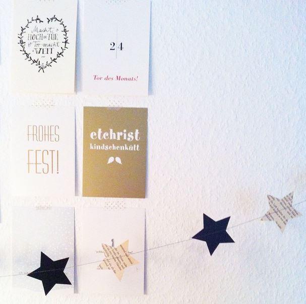 Weihnachtskarten Wand 2014