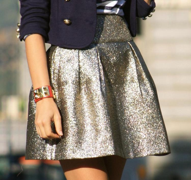 Minifalda dorada - vintedes