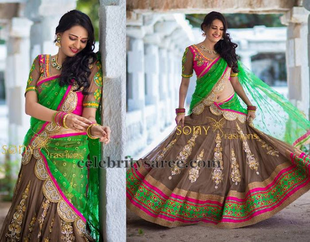 Bronze Color Half Saree
