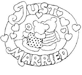 wedding coloring pages just married
