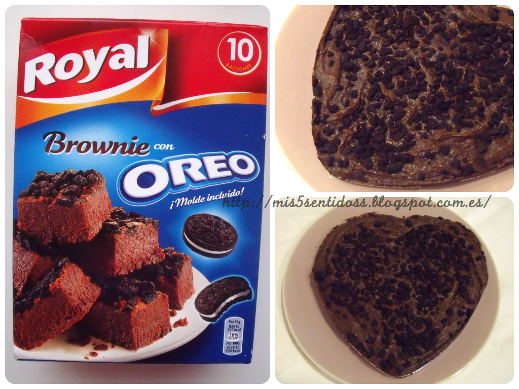 Royal Brownie con galletas Oreo Degustabox febrero 2014