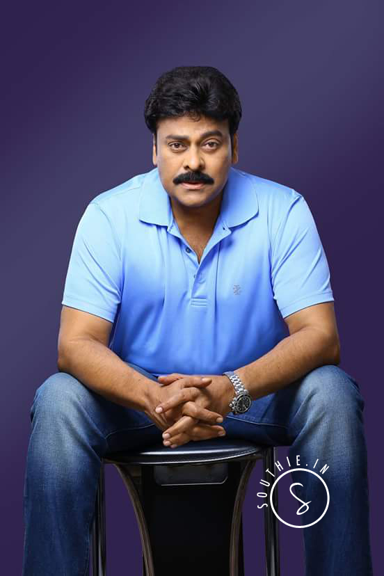 Megastar Chiranjeevi in Blue Tee and Demins. Megastar Chiranjeevi special photoshoot, Megastar Chiranjeevi.