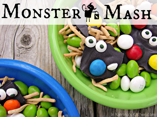 Monster Mash Popcorn Mix @katrinaskitchen