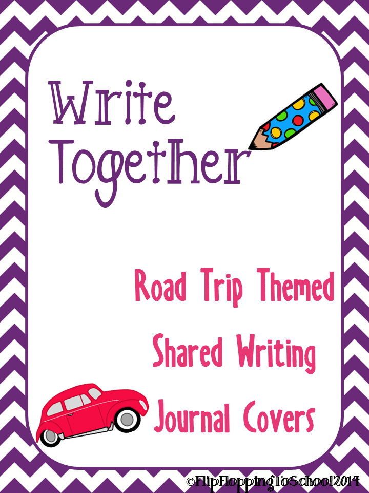 http://www.teacherspayteachers.com/Product/Road-Trip-Theme-Shared-Writing-Journal-Covers-1373246