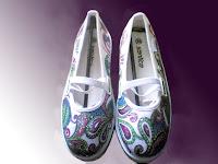Sepatu Lukis jean 202 Cewek  Rp 125 000,sepatu lukis ornamen,,spatu lukis bunga