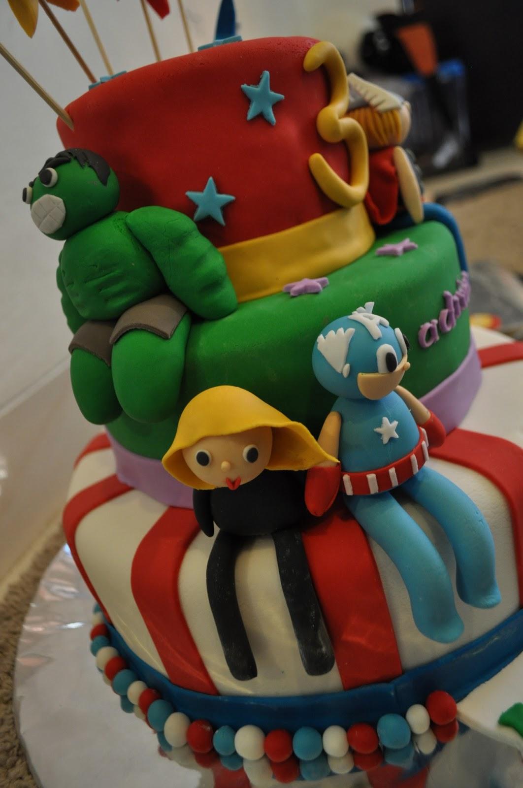Momatoye Avengers Birthday Cake Ocii