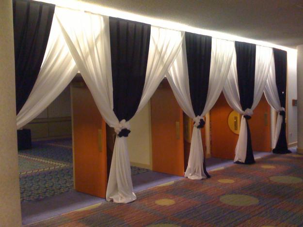 Decoracion de bodas con telas parte 4 - Telas para paredes decoracion ...