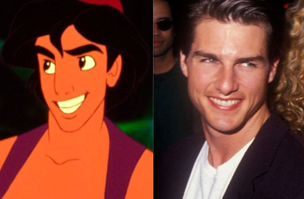 Os personagens da Disney na vida real - Aladdin – Tom Cruise