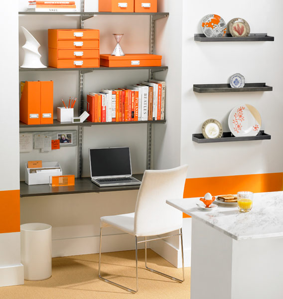 For a small office  the room will look more compact and simple  Comfort   you can definitely feel in a small office. Small Modern Office Space With Furniture  Home Decorating Ideas