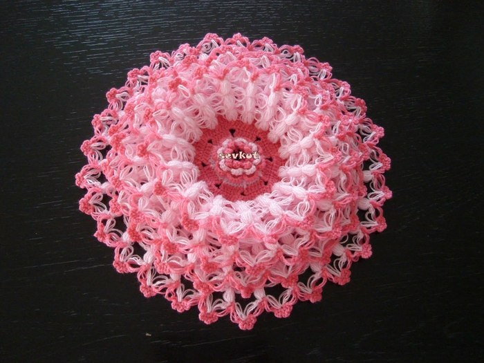 Crochet beauty flower