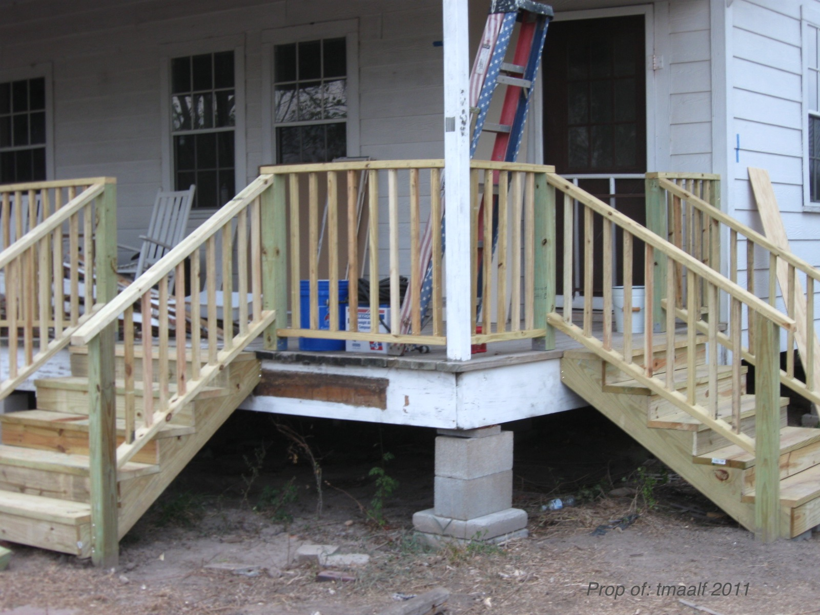 NEW PORCH STAIRS