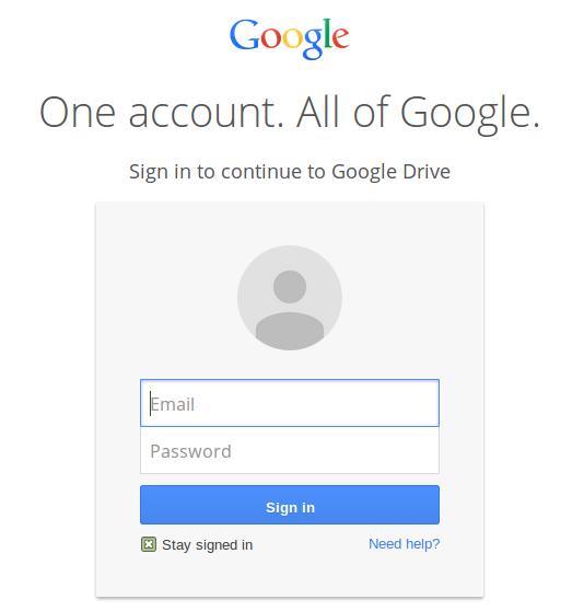 google drive-login
