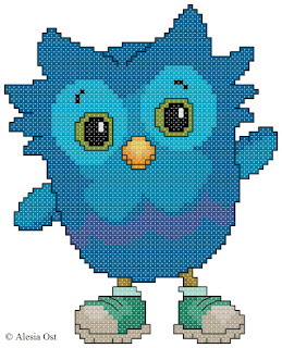 Free cross-stitch patterns, O the Owl, owl, bird, animal, Daniel Tiger's Neighborhood, cartoon, cross-stitch, back stitch, cross-stitch scheme, free pattern, x-stitchmagic.blogspot.it, вышивка крестиком, бесплатная схема, punto croce, schemi punto croce gratis, DMC, blocks, symbols, patrones punto de cruz