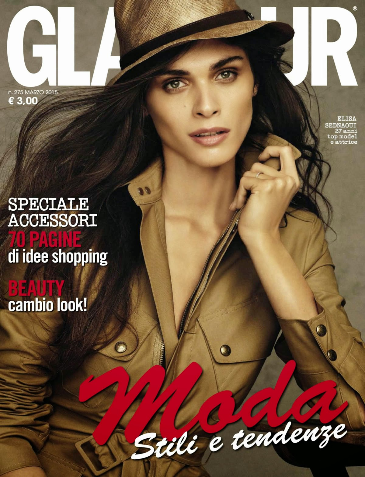 Model, Actress: Elisa Sednaoui by Alvaro Beamud Cortés for Glamour Italia March 2015
