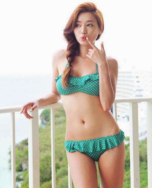 Stylenanda Frilled Polka Dot Bikini With Halterneck