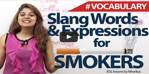 smoking vocabulary words
