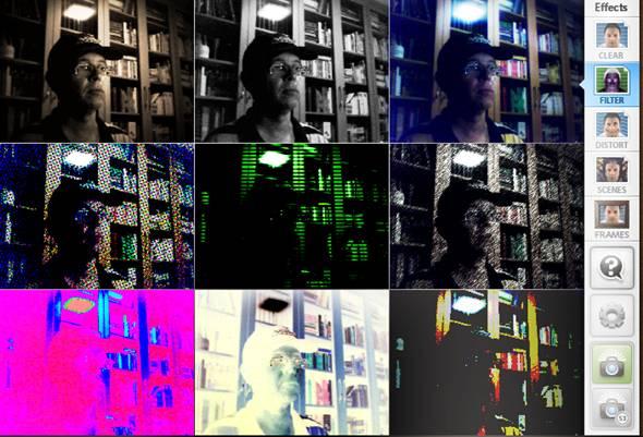 se prendre en photo avec la webcam et ajouter des effet photo