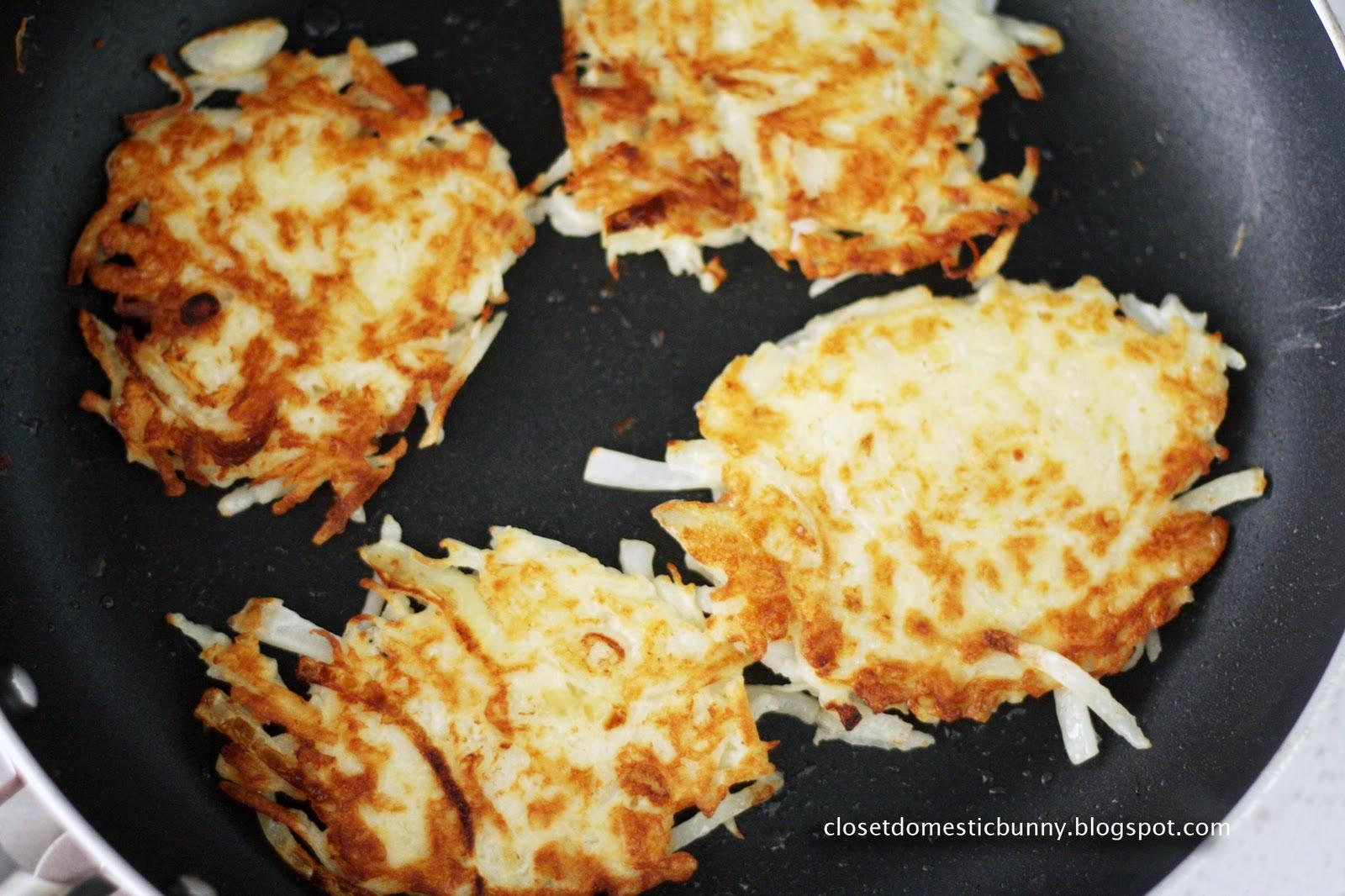 cooking. eating. carousing.: shredded potato pancakes