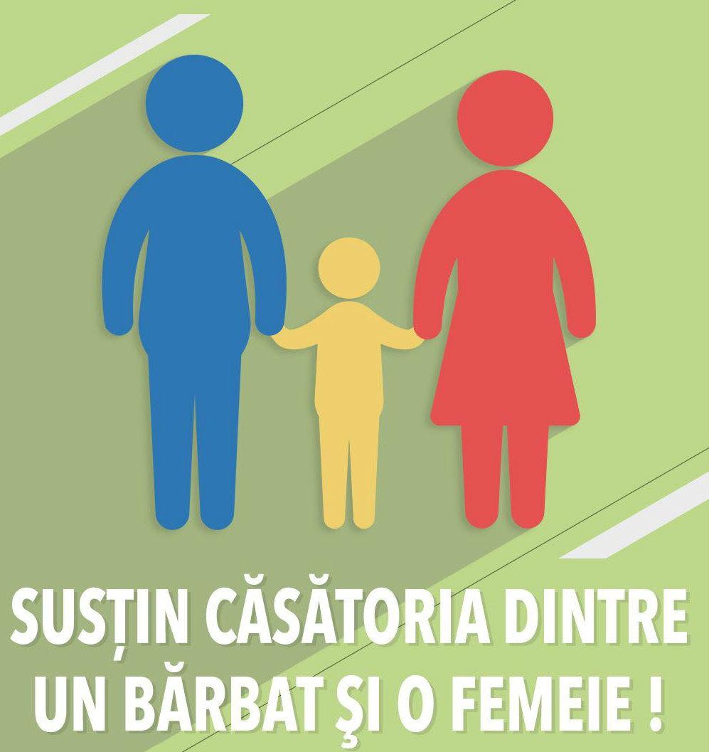 susțin numai căsătoria dintre bărbat și femeie