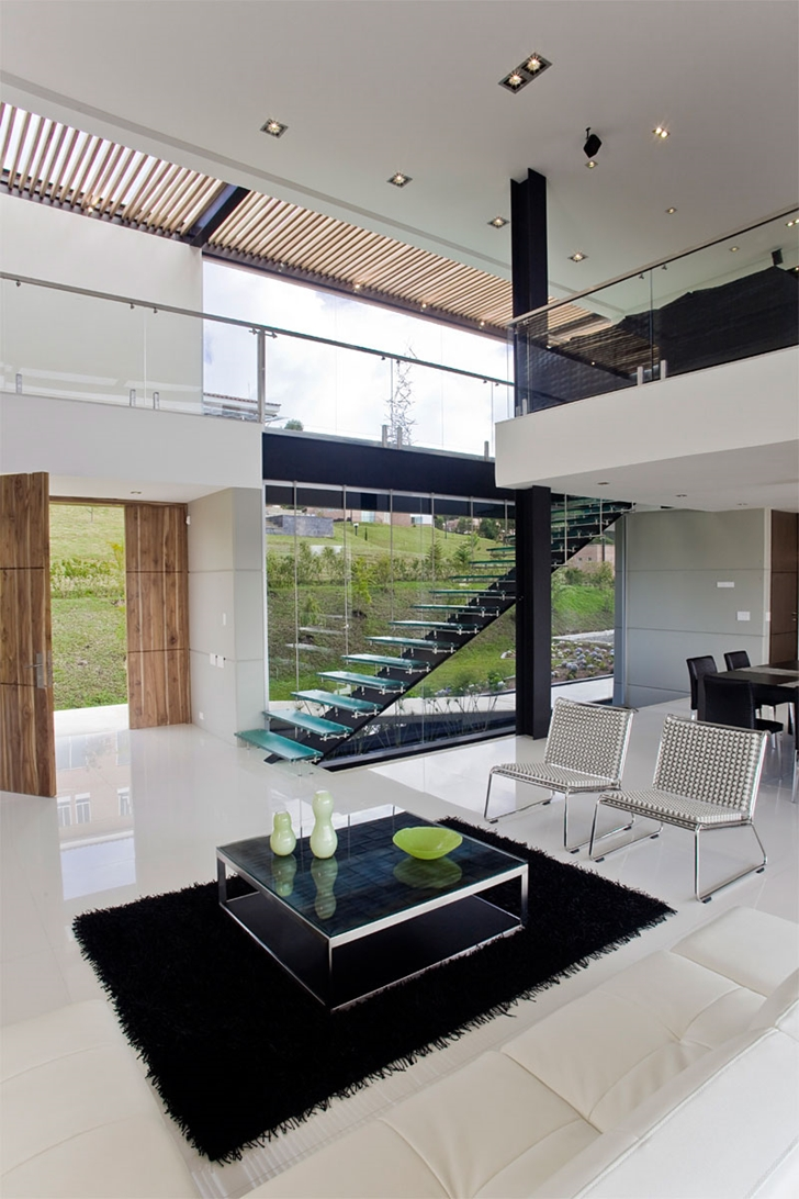 Interior of Modern architecture house by Carlos Molina