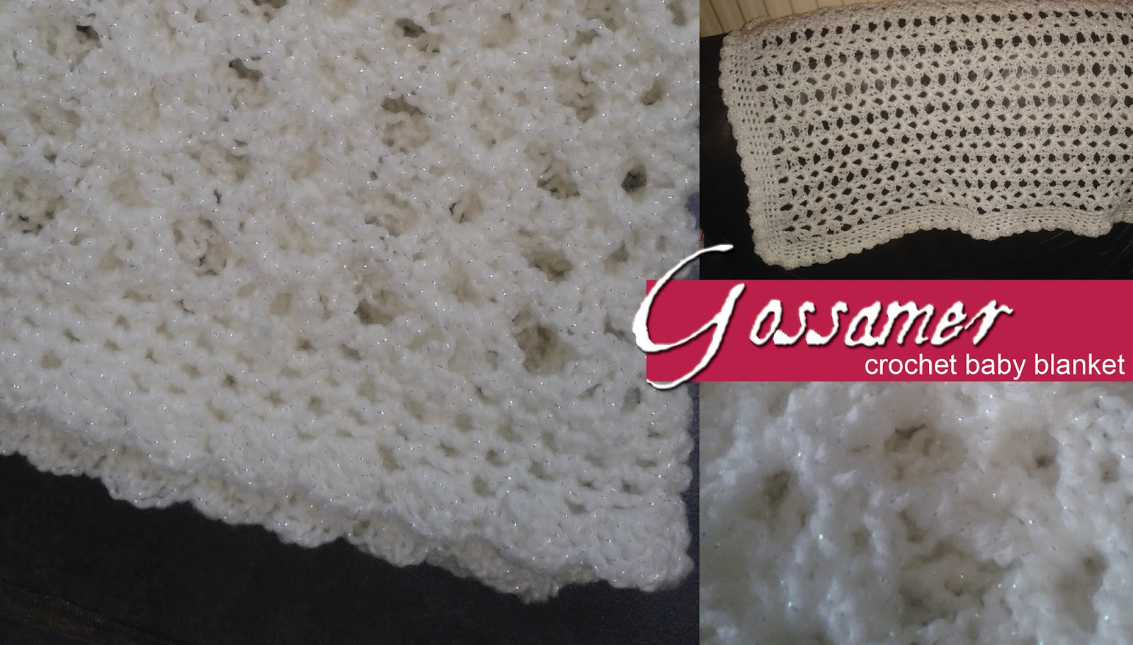 Lolly\'s Crafty Crochet: Free Pattern: Gossamer Crochet Baby Blanket