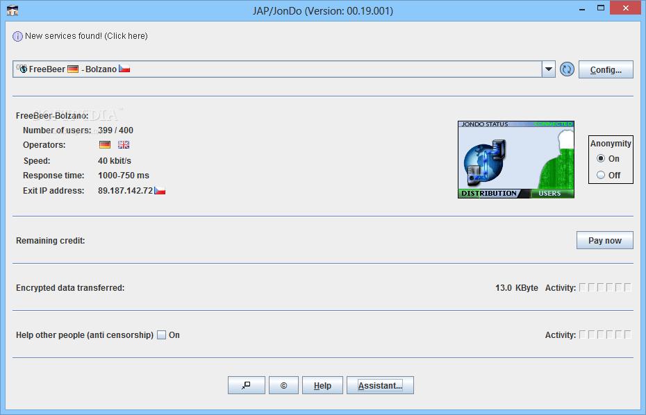 برنامج اخفاء الاي بي الحقيقي JAP / JonDo 00.17.001