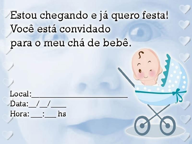Convites para chá de bebê de menino 11