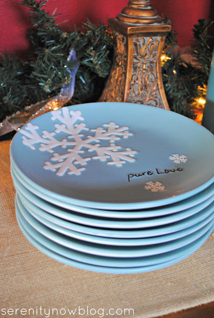Christmas Snowflake Plates, Serenity Now blog