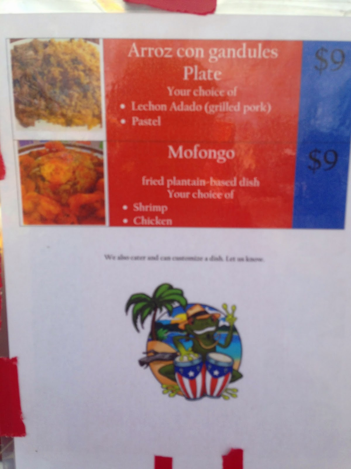 Senor Juan Food Truck Menu