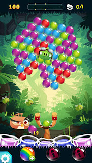 Screenshots of the Angry birds: Stella pop for Android tablet, phone.